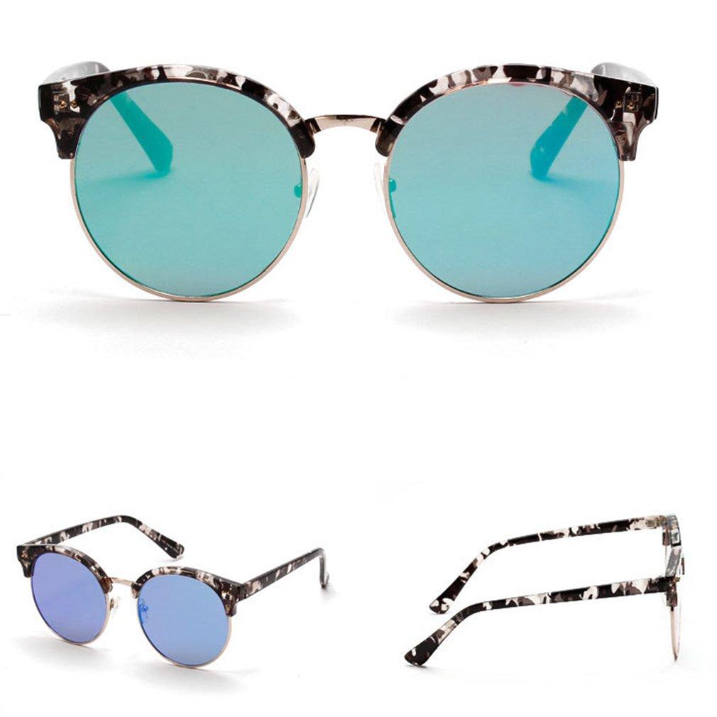Fashion Bright Color Flat Shape Eyewear Retro Vintage Women Sunglasses