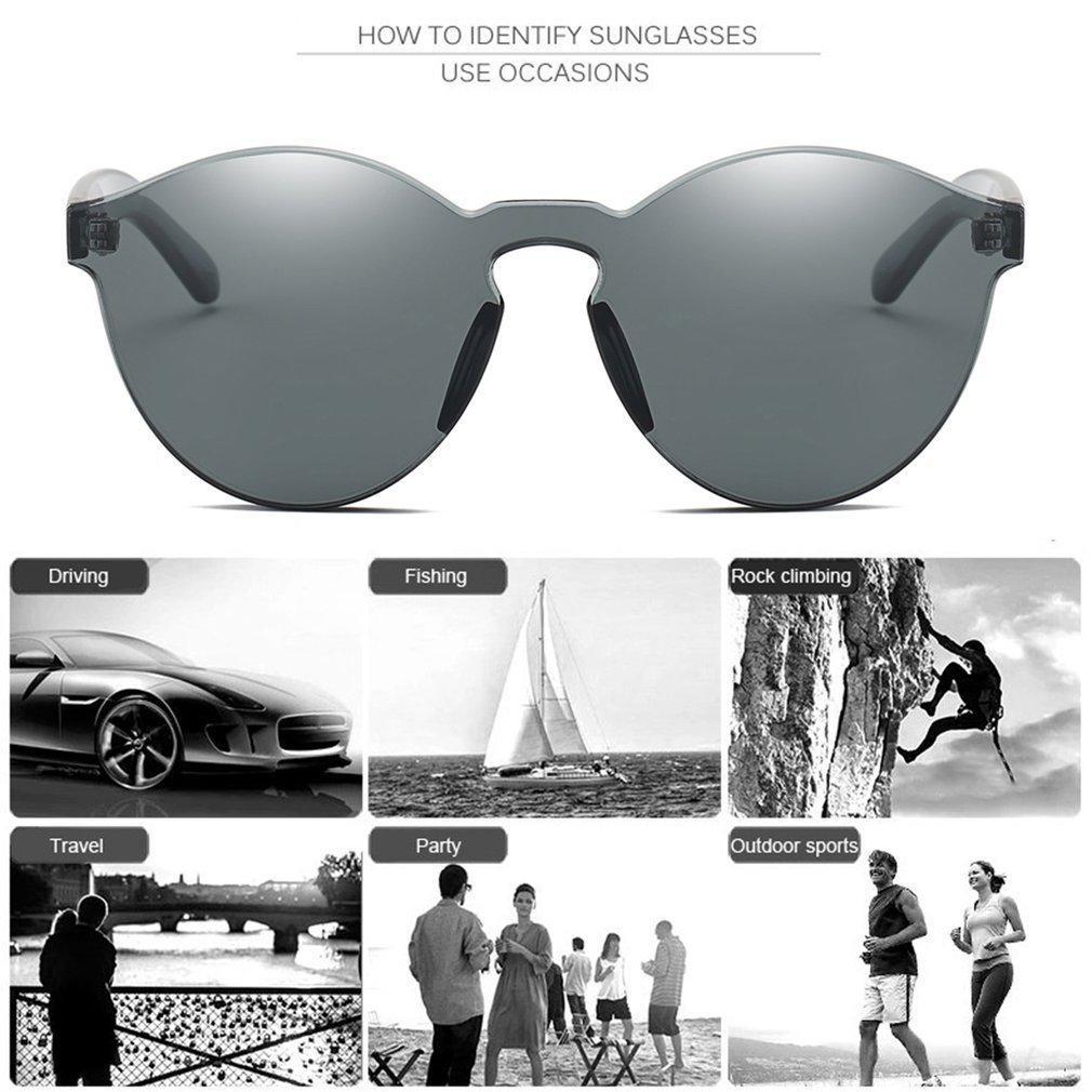 Women Cat Eyes Sunglasses Fashion Style Transparent Mirror Sunglasses Integrated Eyewear Resin Lens UV400 All-match Glasses