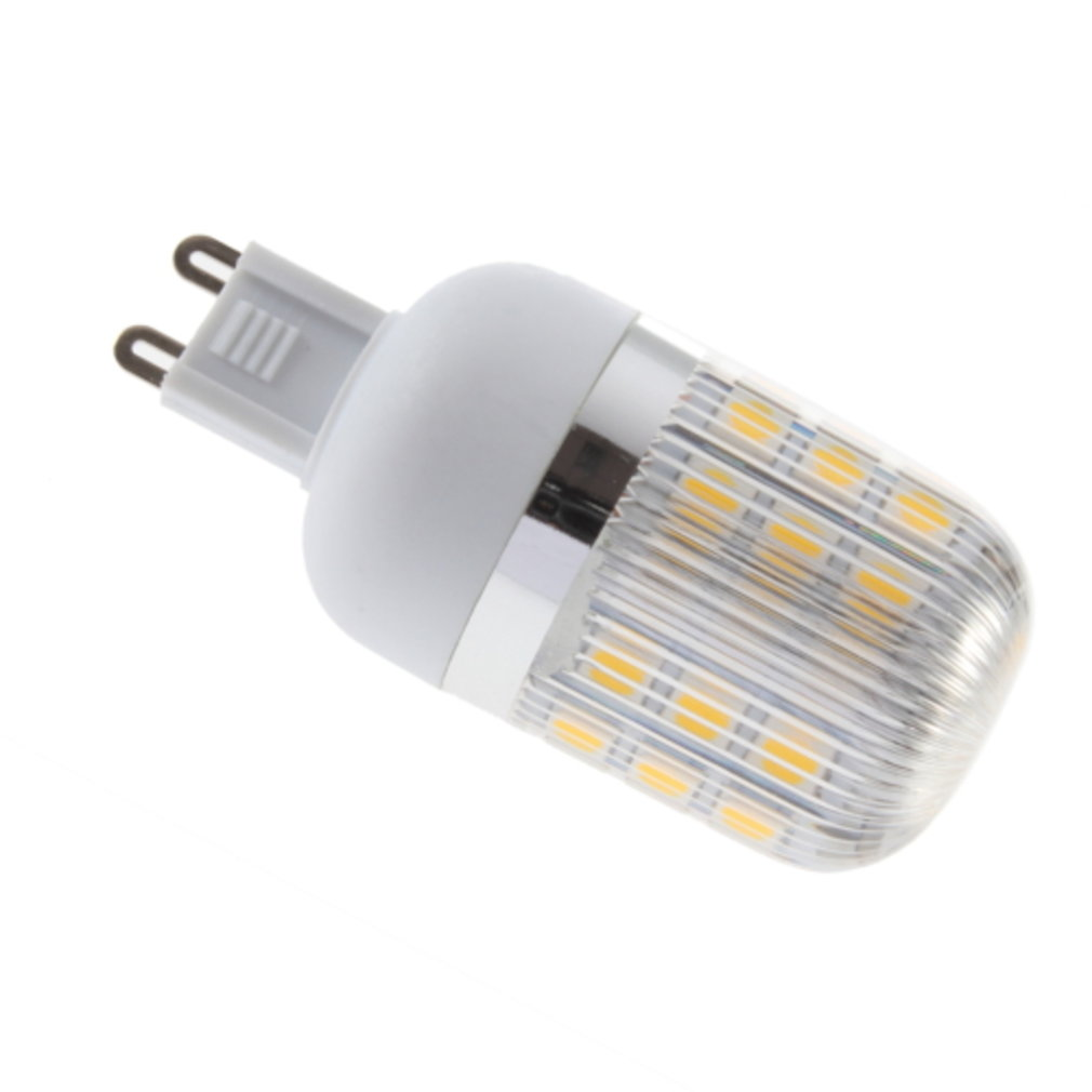 G9 4W 27 LED Warm White 110V Corn Lamp With Streak Cover
