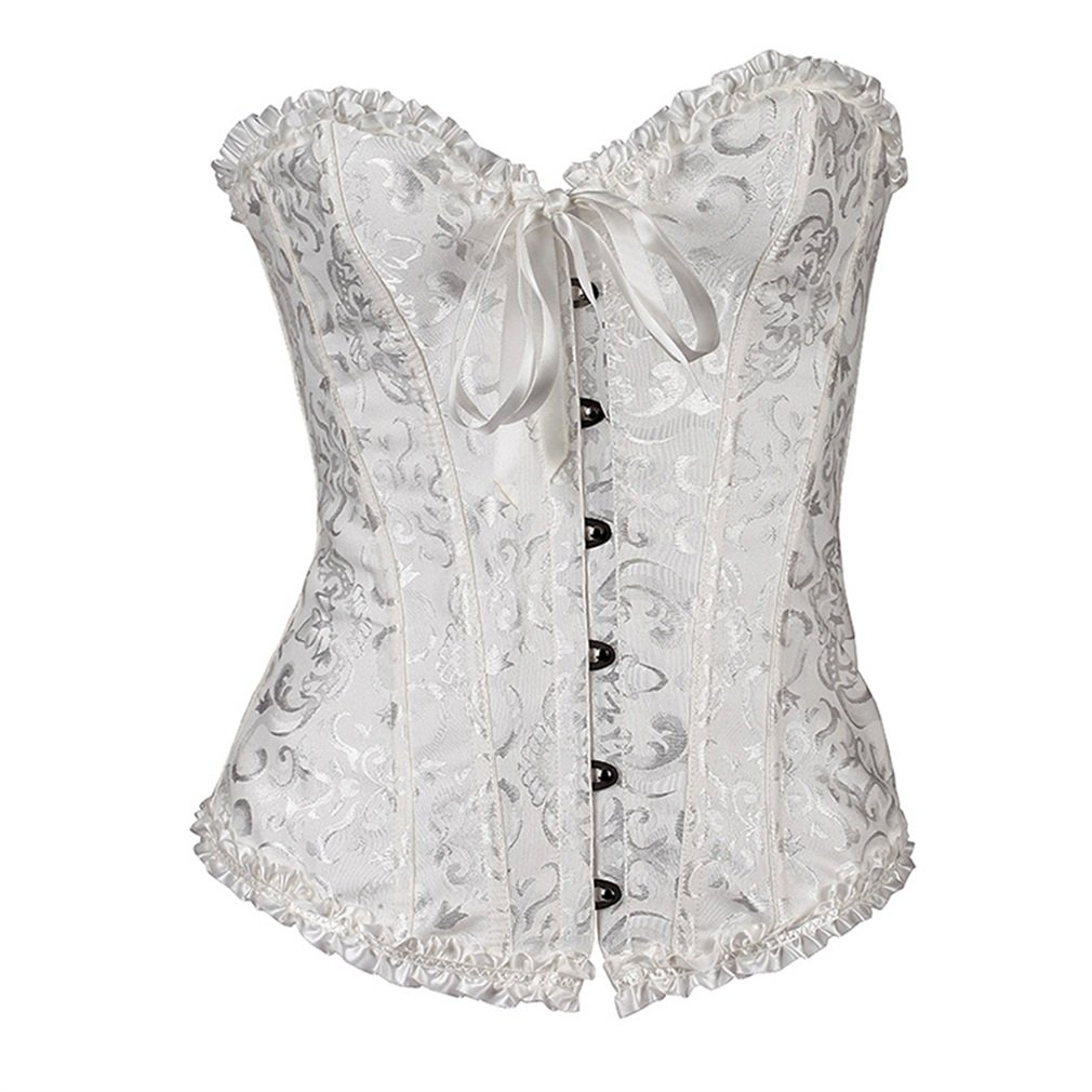 HOT Lady Sexy Corset Basque Top Lingerie Women Dress Size S-6XL Black Red White