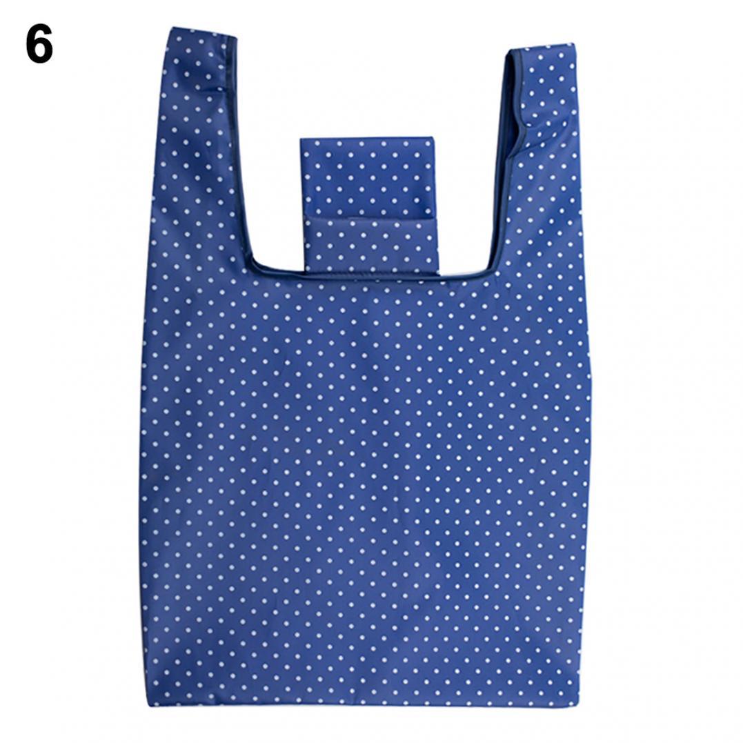 Fashion Waterproof Oxford Fabric Grocery Folding Tote Shopping Bag Pouch Handbag