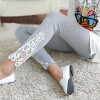 Lace-carved leggings light grey