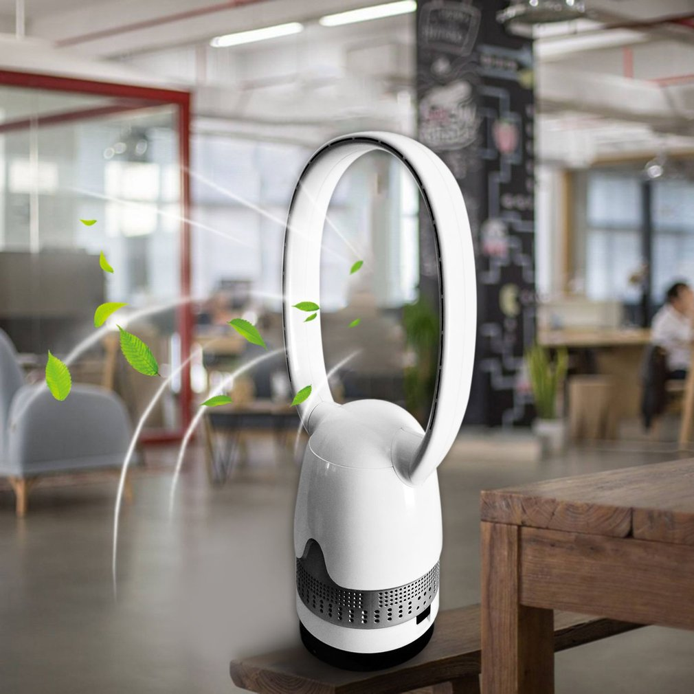 36inch Bladeless Remote Control Low Noise Ultra-quiet Electric Fan No Leaf Fan