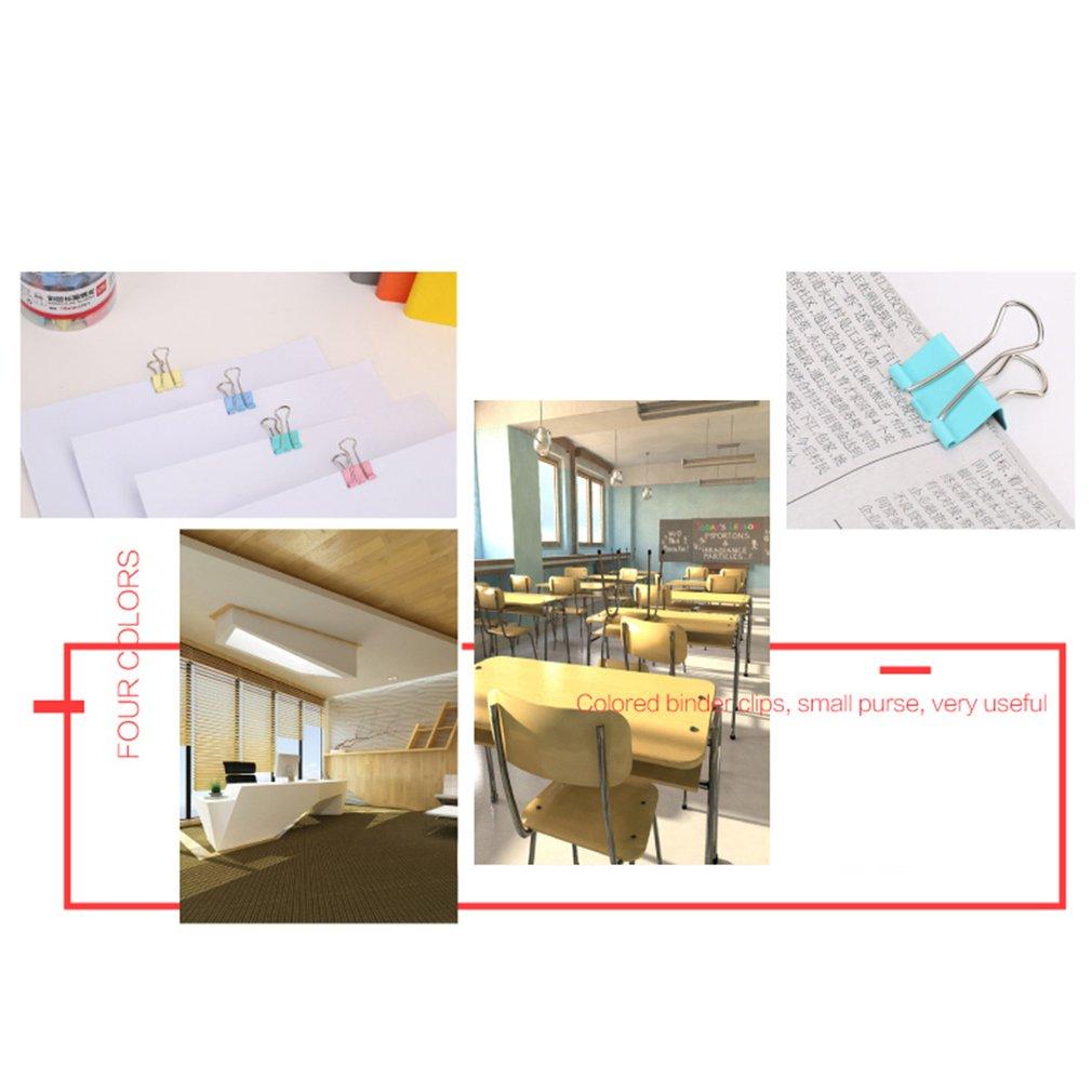 DELI 8556ES 60pcs/tub Colors Stainless Steel 15mm Binder Clips Paper Clip