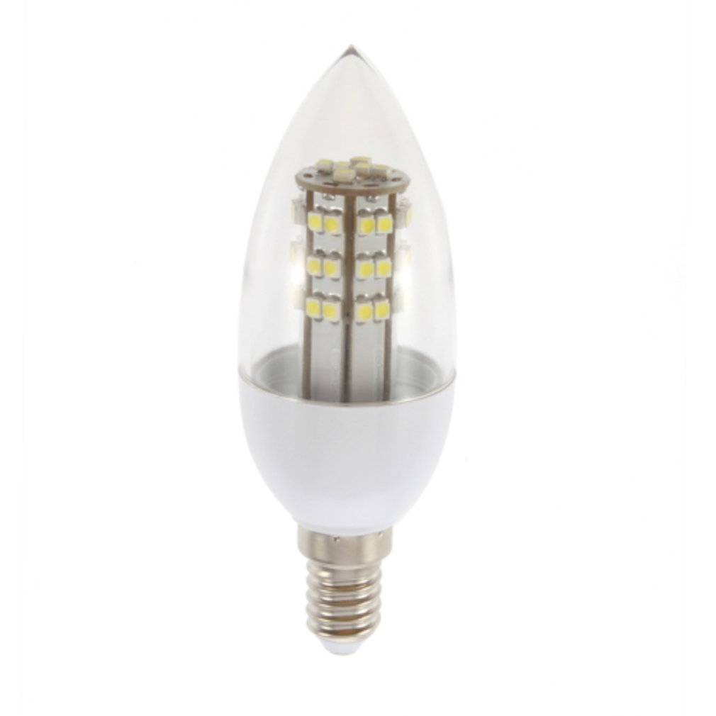 E14 2.5W 48LED Cool White 110V Corn Lamp With Transparent Cover