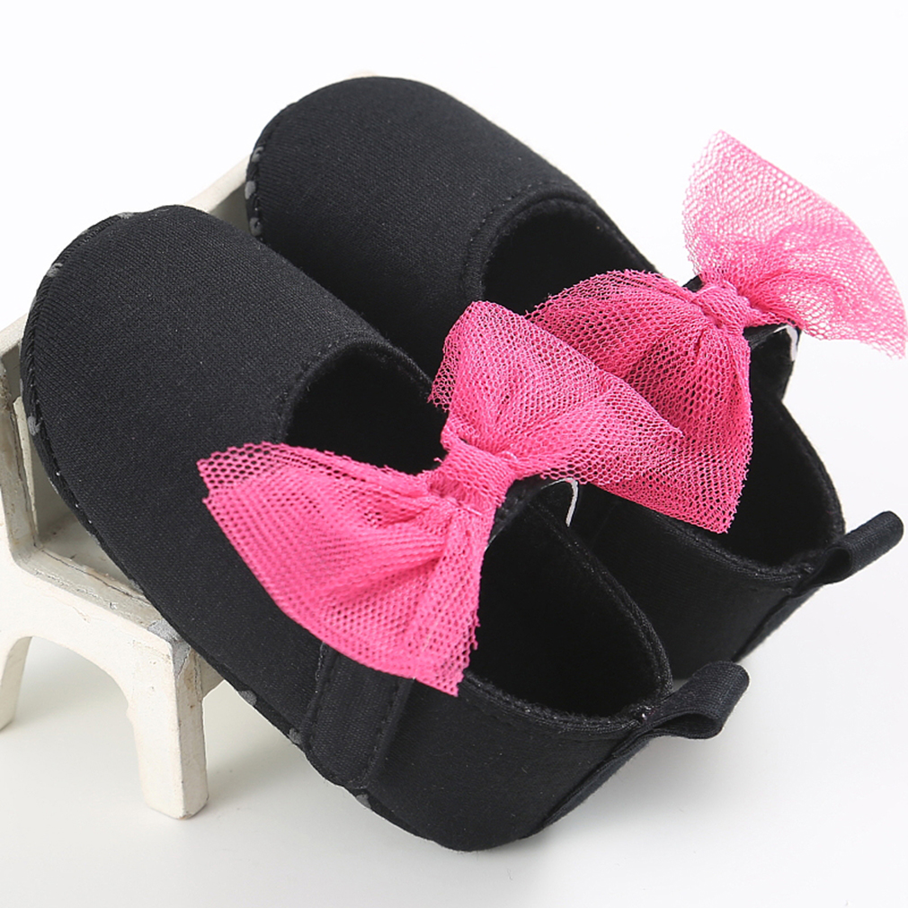 Newborn Baby Girl Shoes Soft Shoes Bownot Soft Soled Non-slip Bowknot Shoes