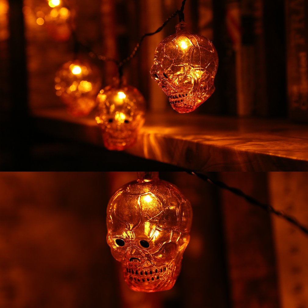1.9M Skull Shape Light Strip With Battery Box for Easter Day Decoration