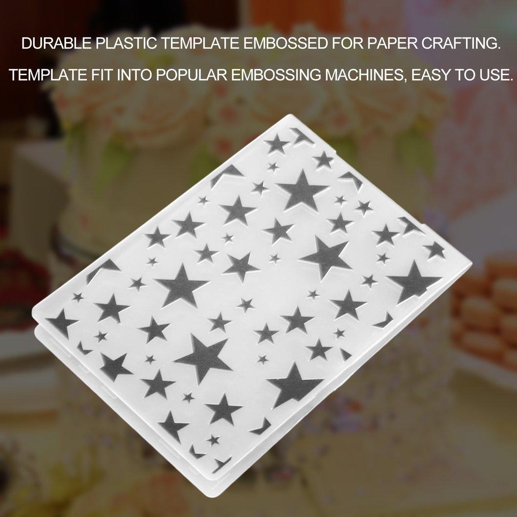 Plastic Embossing Folder DIY Scrapbooking Album Card Tool Embossing Template