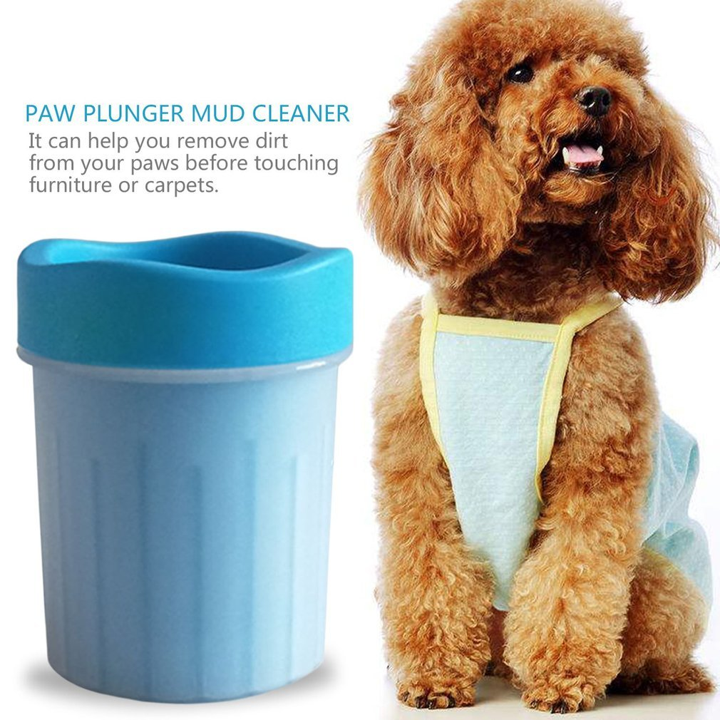Comfortable Soft Silicone Pets Dogs Cats Paw Plunger Mud Cleaner Washer Flexible Pets Foot Washer Cup Cleaning Tool