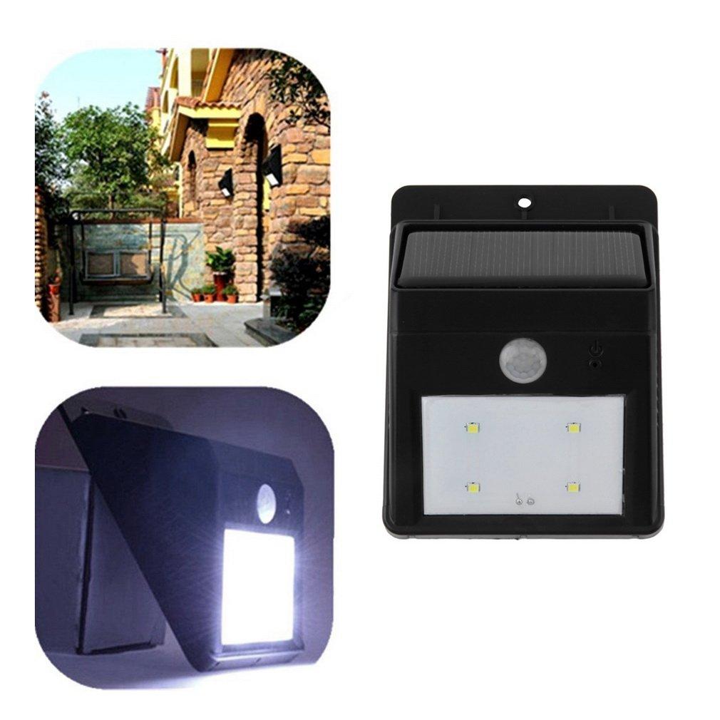 Motion Sensor Outdoor Security Triangle Wall Light LED Solar Garden Lamp
