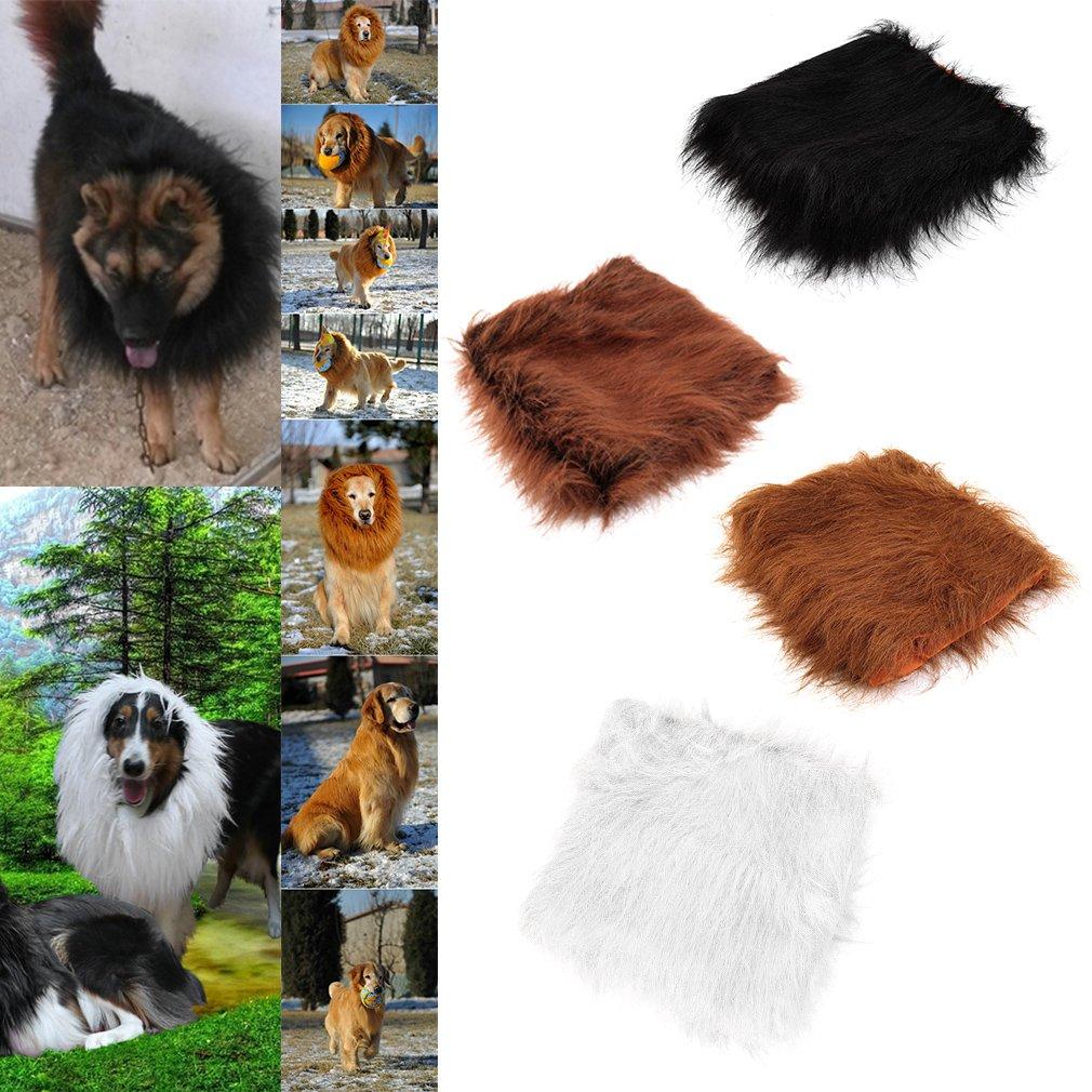 Pet Costume Lion Mane Wig Dog Head Neck Halloween Chrismas Clothes Festival