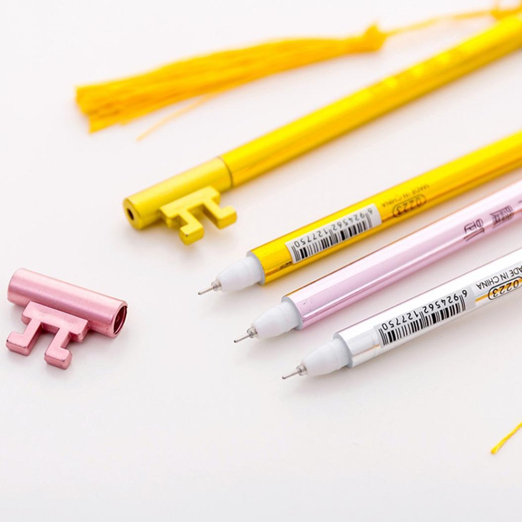 Creative Tassel Pendant Ink Gel Pen Writing Marker Student Office Stationery