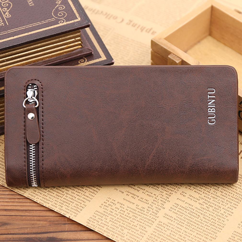 New GUBINTU Man Purse Men PU Leather For Male Fashionable Zipper Style Soft