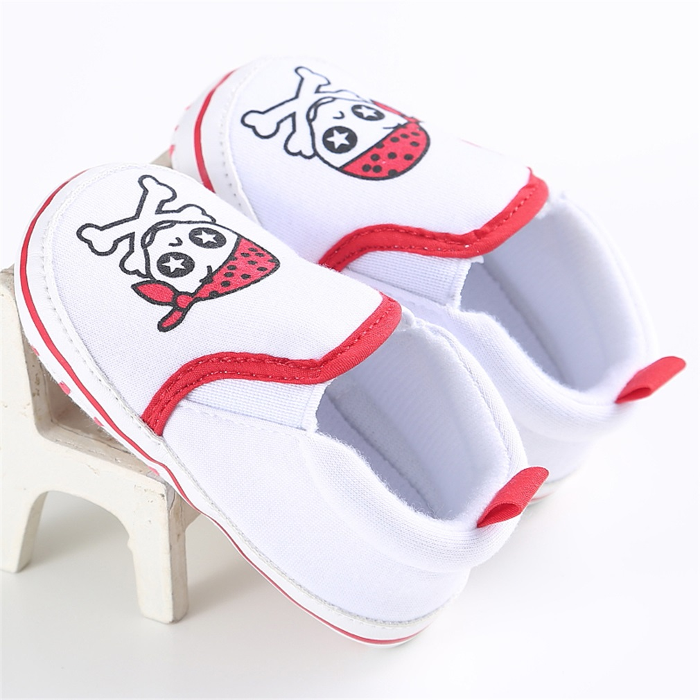 Infant Newborn Baby Shoes Casual Soft Insole Skull Head Decoration Baby Shoes