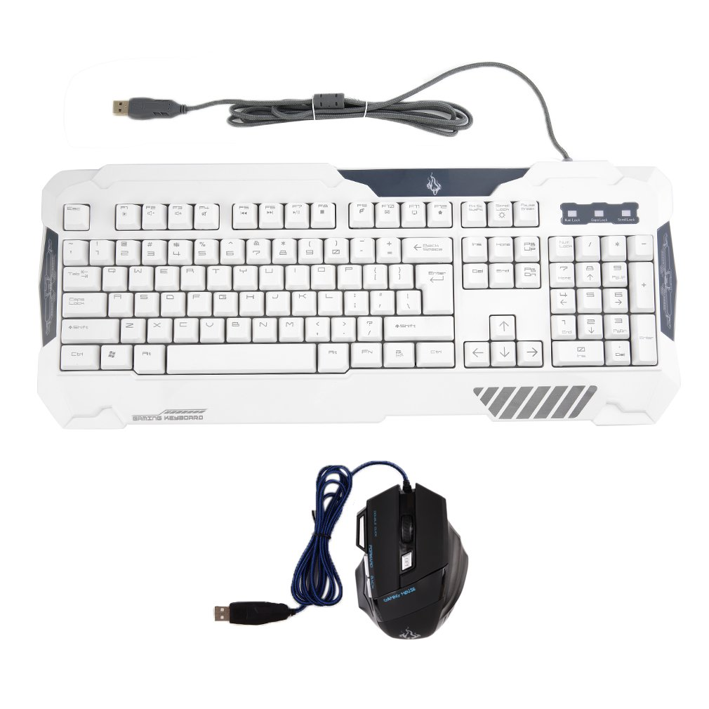 Wired USB Professional Game Keyboard 7 Buttons Mouse Set for PC Laptop Mac