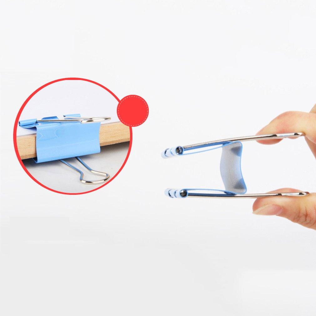 DELI 8554ES-25mm 48 pcs/tub Colors Binder Clips Long Clips Student Supplies