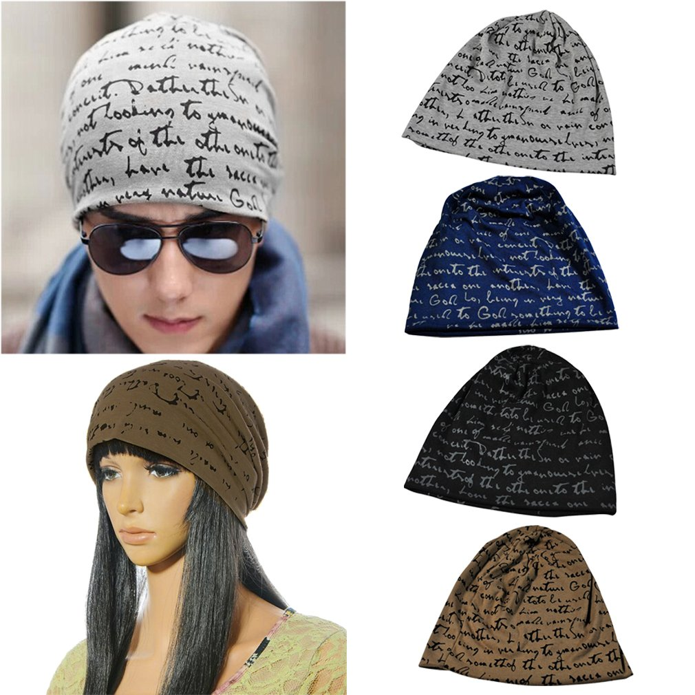 Fashion Unisex Letters Printing Warm Winter Hat Cool Hat Couple Hat