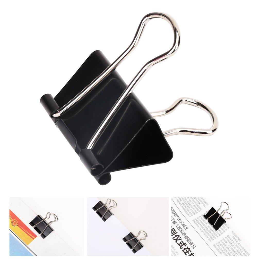 DELI 9541-50mm 12pcs/lot Black Metal Clips Long Tail Clips Note Paper Clips