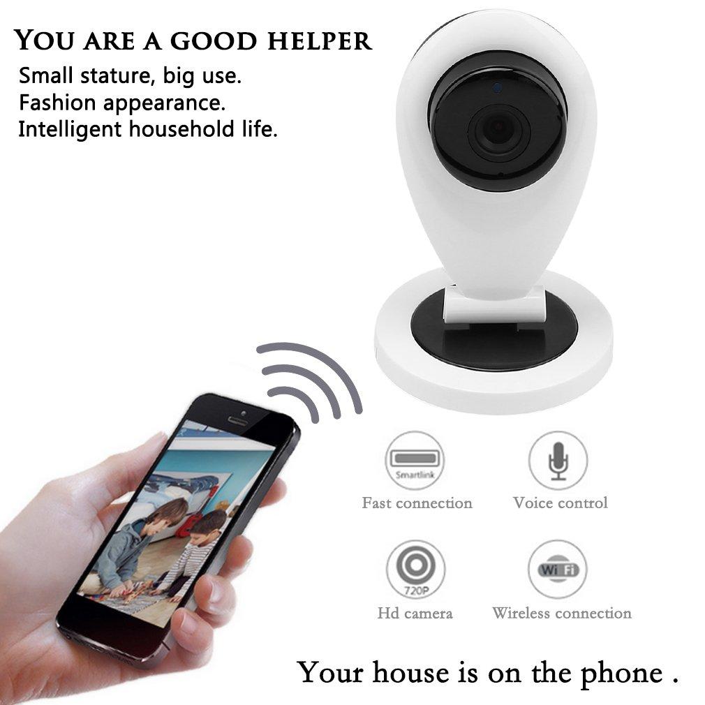 Wireless WiFi Monitoring Network Camera Alarm Shaking Machine Robot - EU type