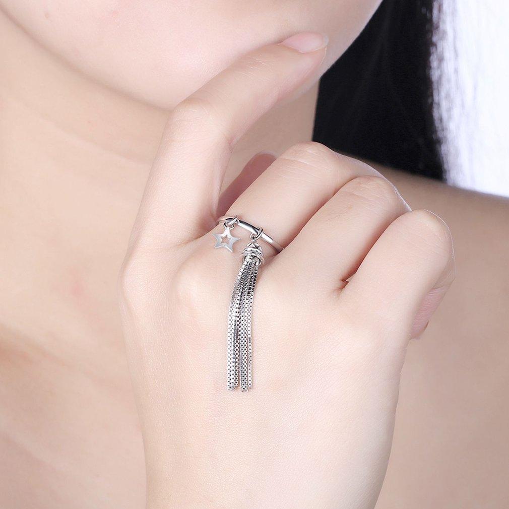 Fashionable Design Women Adjustable Open Finger Ring Cute Tassel Decoration Rings for Daily Wear Fine Jewelry