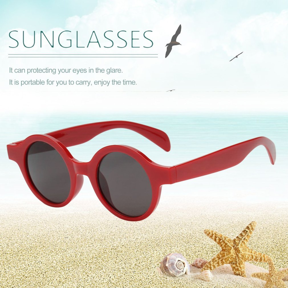 Popular Small Round Frame Women Fashionable Sunglasses PC Frame Resin Lens UV Travel Driving Eyewear Glasses for Lady