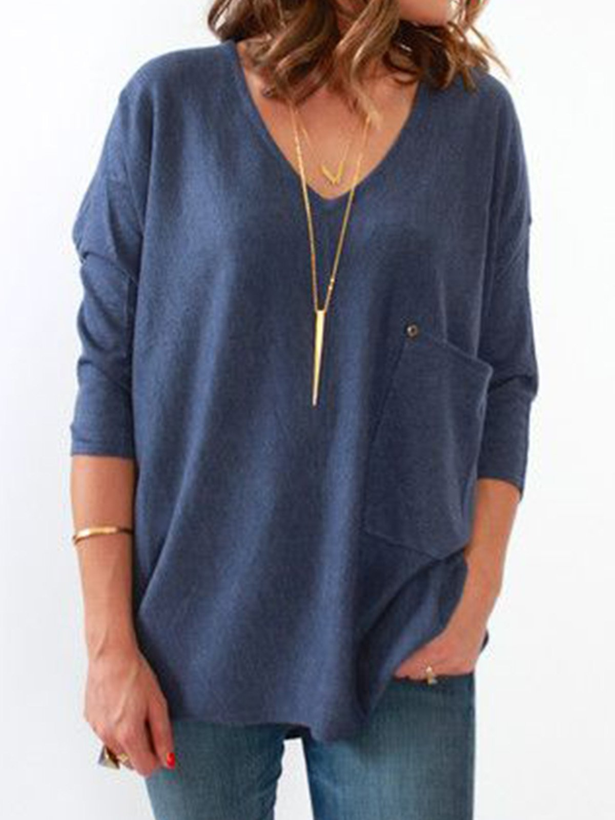 Plus size cloak Cotton Casual Shirts & Tops