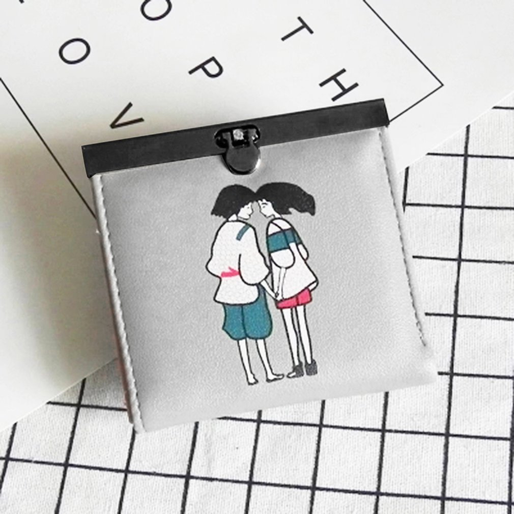 Lovely Cute Women Small Soft PU Leather Multi Cards Slots Money Clip Wallet