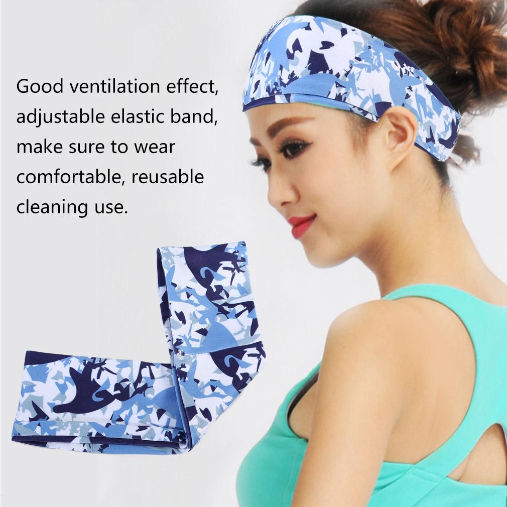 Floral Printed Sweatband Outdoor Running Yoga Sports Sweat Absorbing Headband