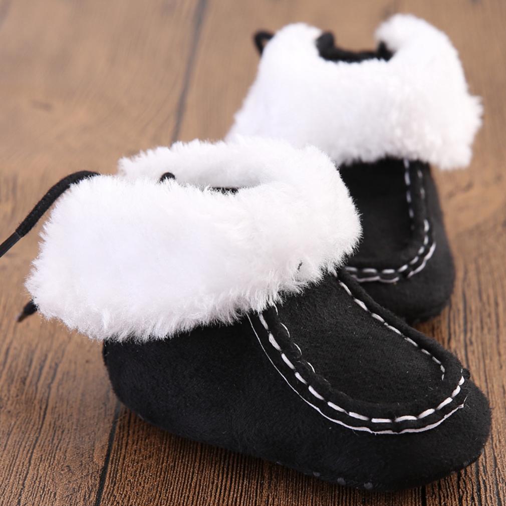 Newborn Baby Autumn Winter Soft Insole Shoes Keep Warm Boy Girl Snowboot