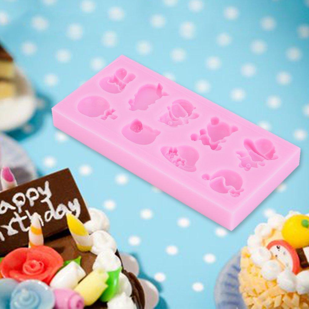 Mini Jewelry Silicone Fondant Mould Cake Decor Chocolate Baking Mold DIY