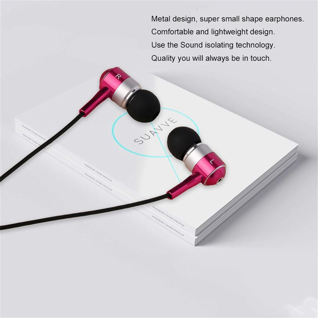 HUAST HST-25 Classic Metal Earphones 1.15M Stereo Bass Earphone Without Mic