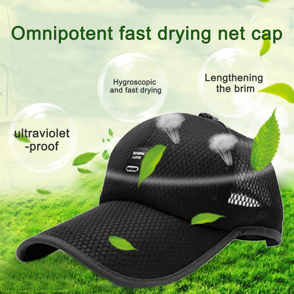 Unisex Sports Cap Outdoor Baseball Cap Long Visor Breathable Mesh Sunshade Hat