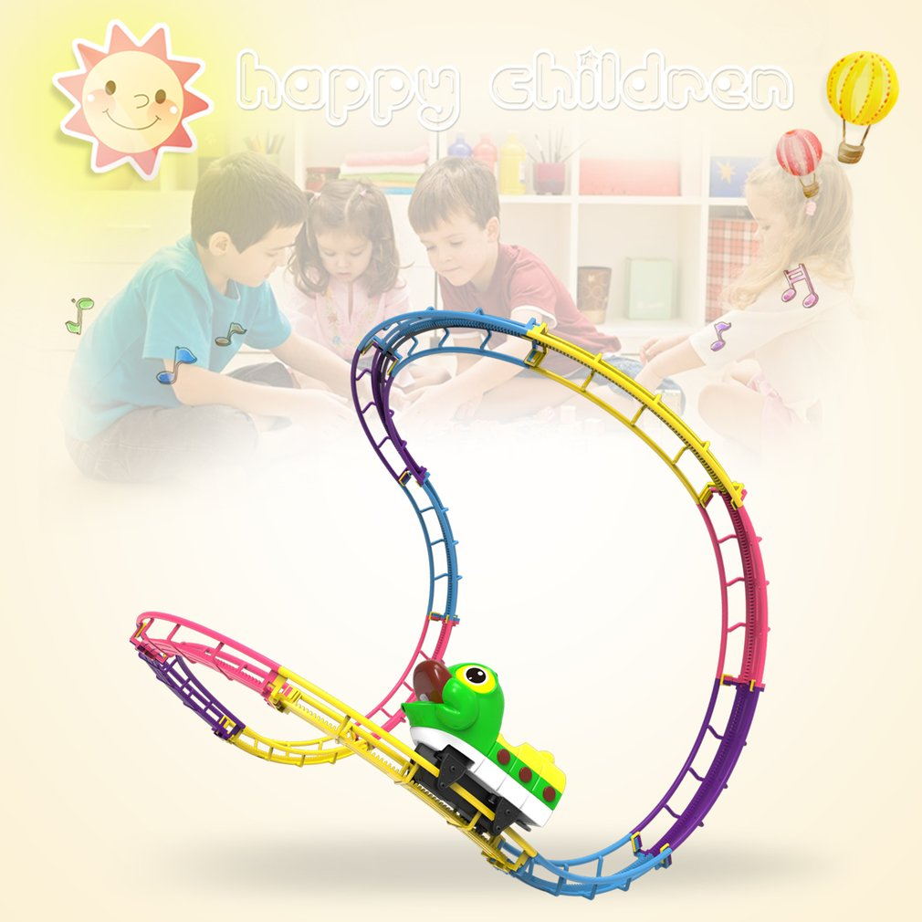 Children Paradise Track Toy DIY Assemble Electric Track With LED Light Cartoon Colorful Track Gift for Boys And Girls