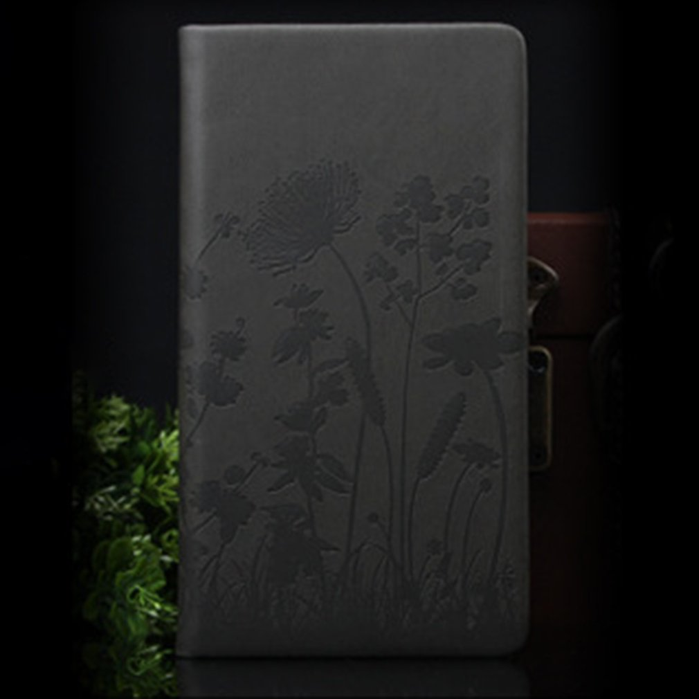 128 Sheets Paper Unique Embossed PU Leather Cover Students Diary Journal Notebook Time Planner Notepad Book Office Stationery