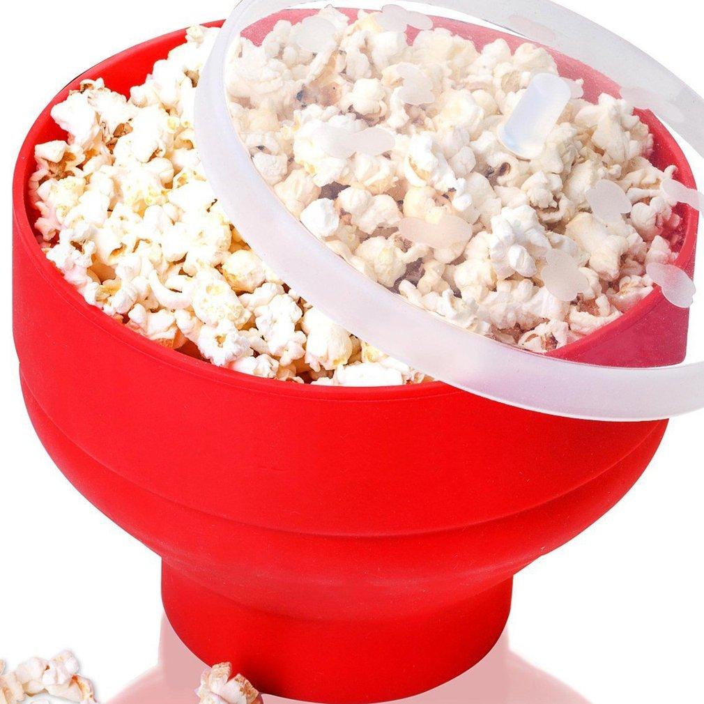 Microwave Folding Popcorn Bucket High Temperature Resistant Silicone Bucket