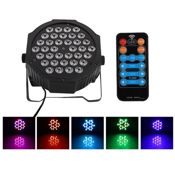 36W 36-LED RGB Remote / Auto / Sound Control DMX512 High Brightness Mini DJ Bar Party Stage Lamp wit