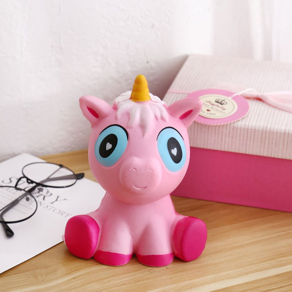 Popular Kawaii Smile Horse Small Size Slow Rising Toy Office Anti-Stress Toys