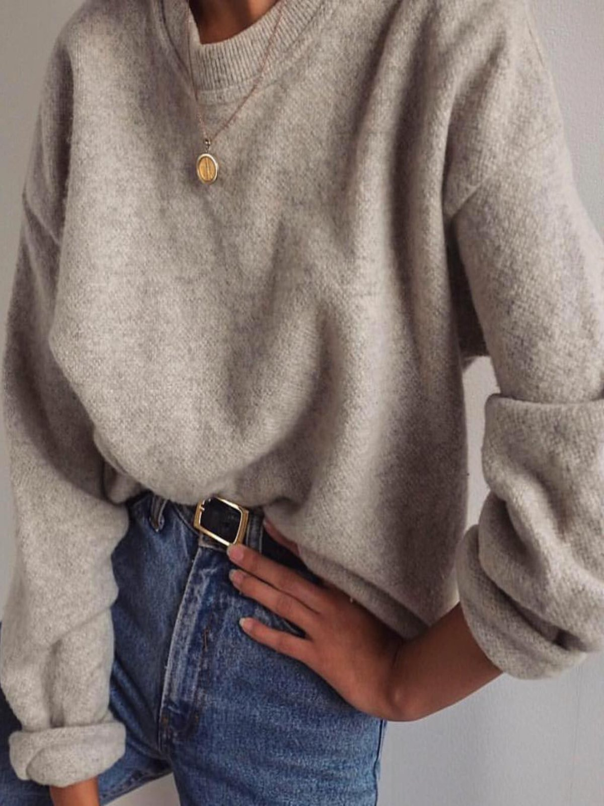 Apricot Casual Long Sleeve Knitted plus size Sweater