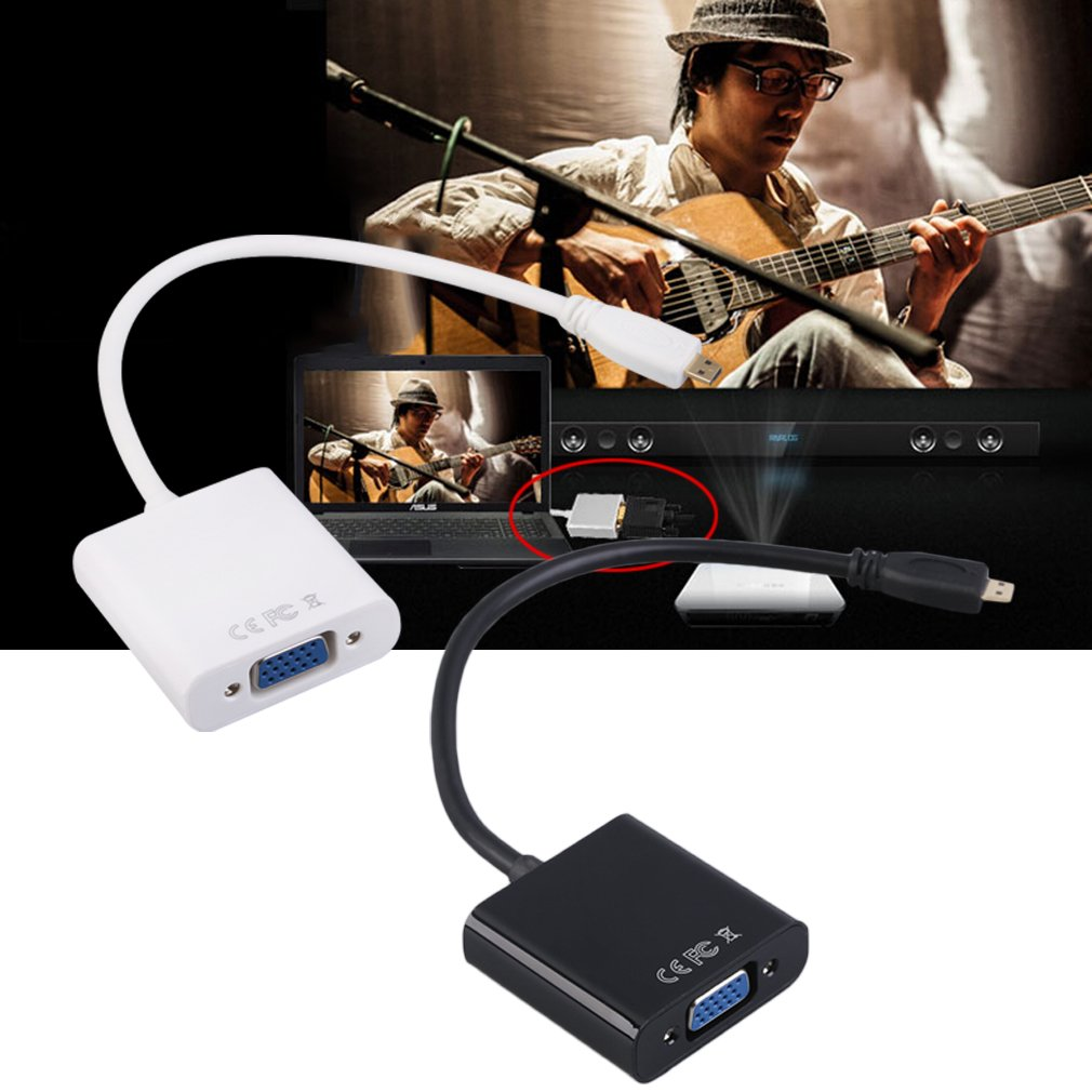 1080P HDMI to VGA Video Converter Adapter Cable For PC Monitor Projector
