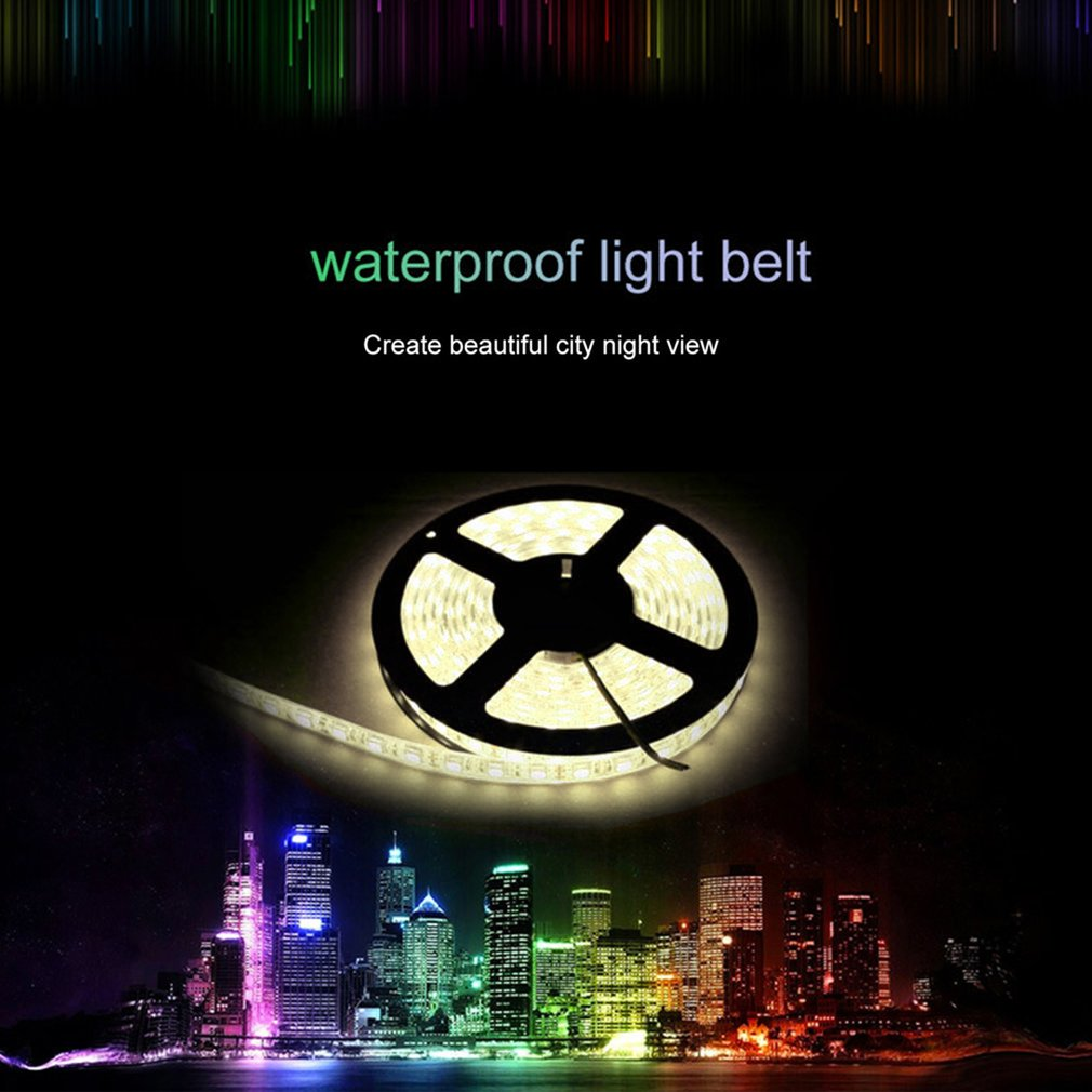 5M 300LED Waterproof LED Strip Light 3528 DC12V 1A Ribbon Tape Lamp Home Decor