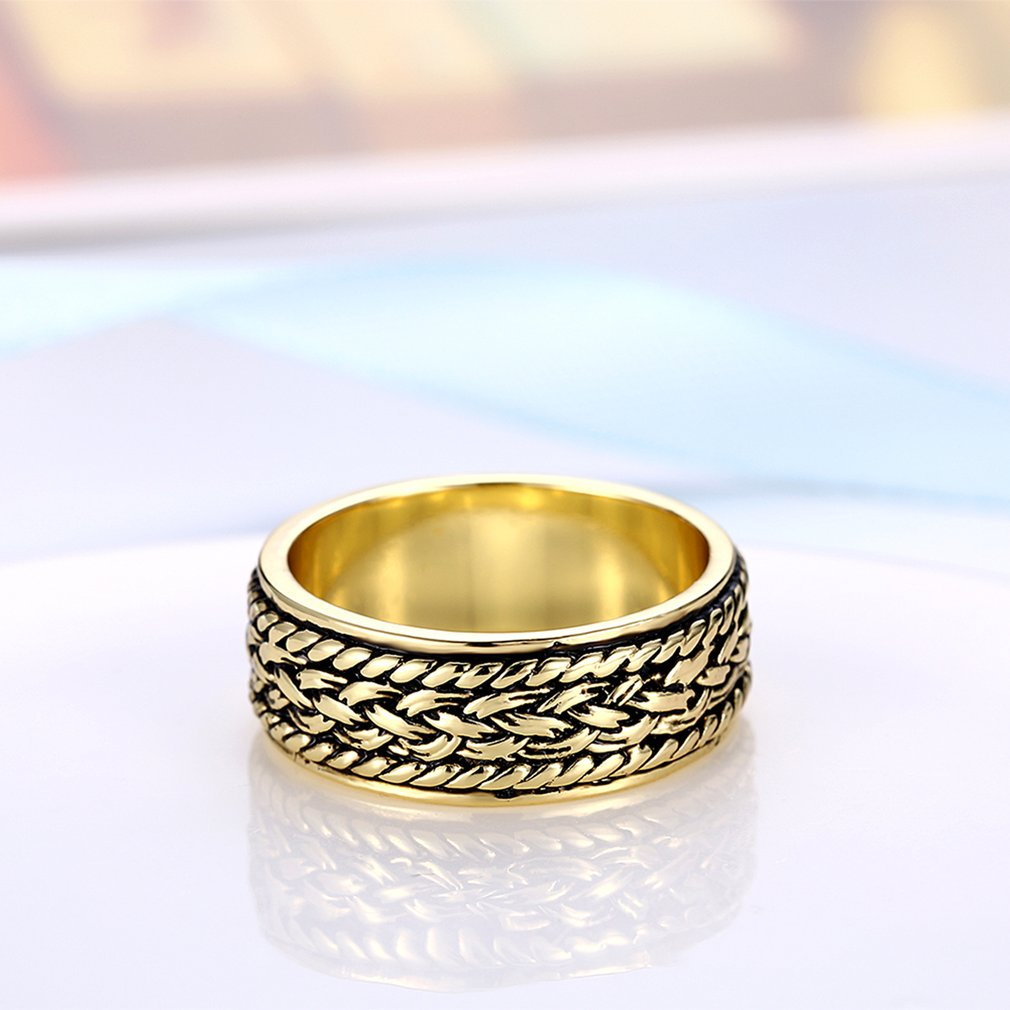 Special Braided Grain Style Trendy Individual Flat Ring Jewelry for Women