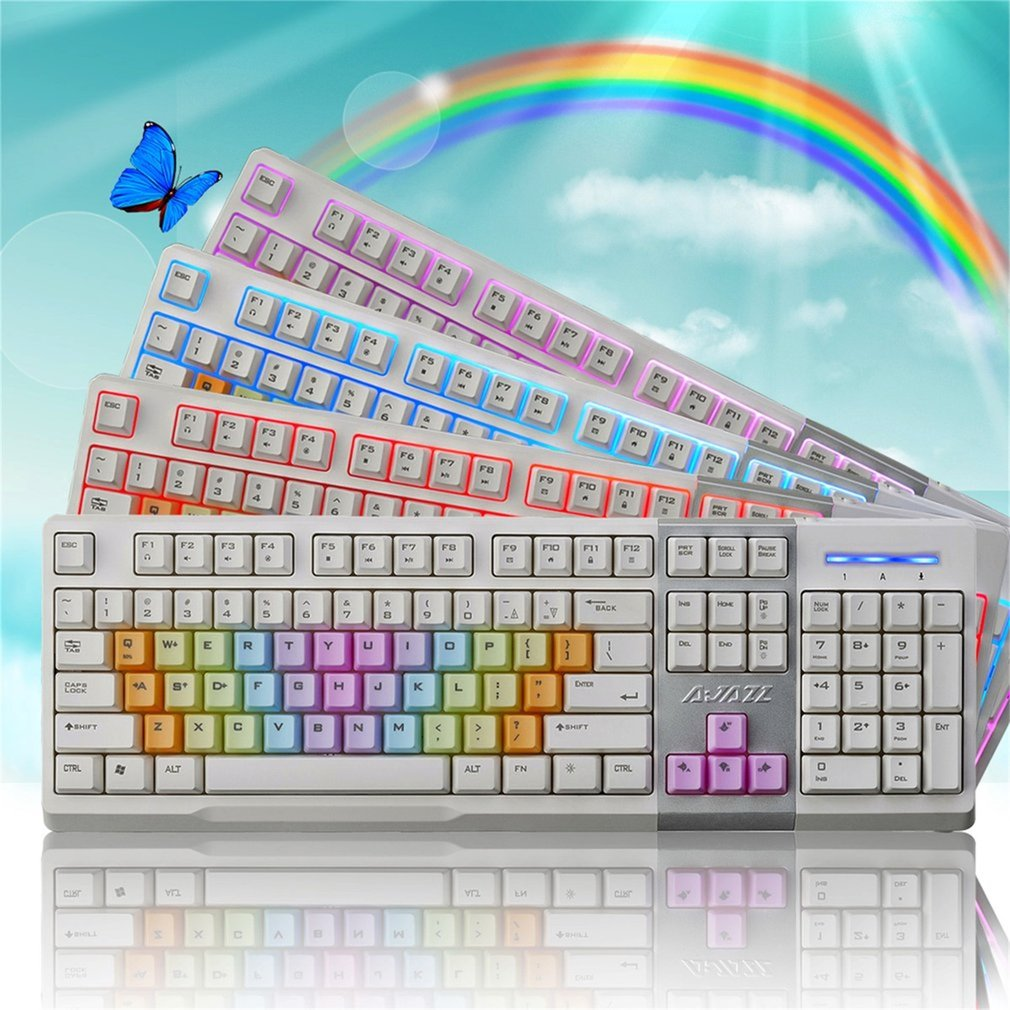 3 Colors Backlight Keyboard Rainbow Keycaps For Mechanical Gaming Keyboard