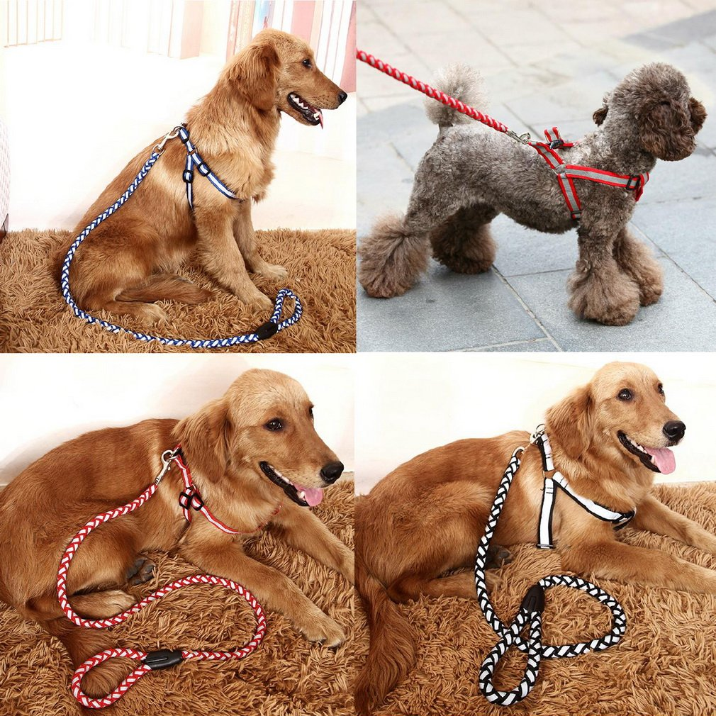 Training Dog Pet Puppy Adjustable Chest Suspender Harness Leash Traction Rope