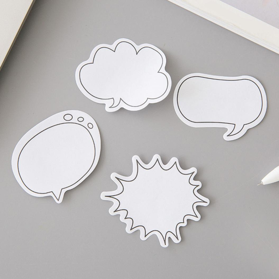 1Pc 30 Sheets Cloud Round Shape Self-adhesive Memo Pad Sticky Notes Stationery