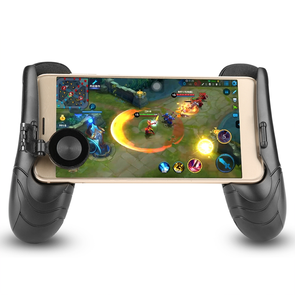 Retractable Phone Gamepad Gaming Controller Joystick Extended Handle Grip Cover Holder(Black)
