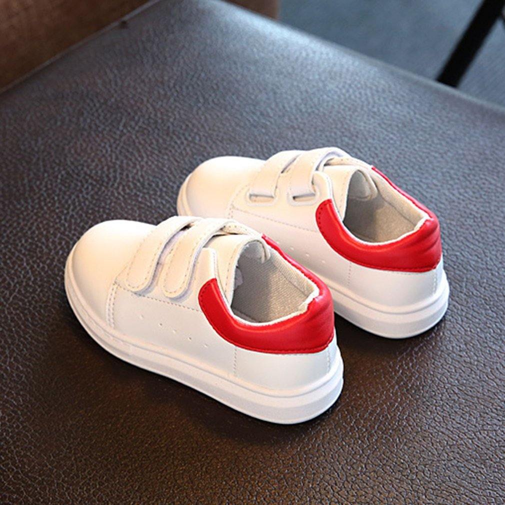 Fashion Matching Color Boys Girls Shoes All-match Magic Tape Walking Sneakers