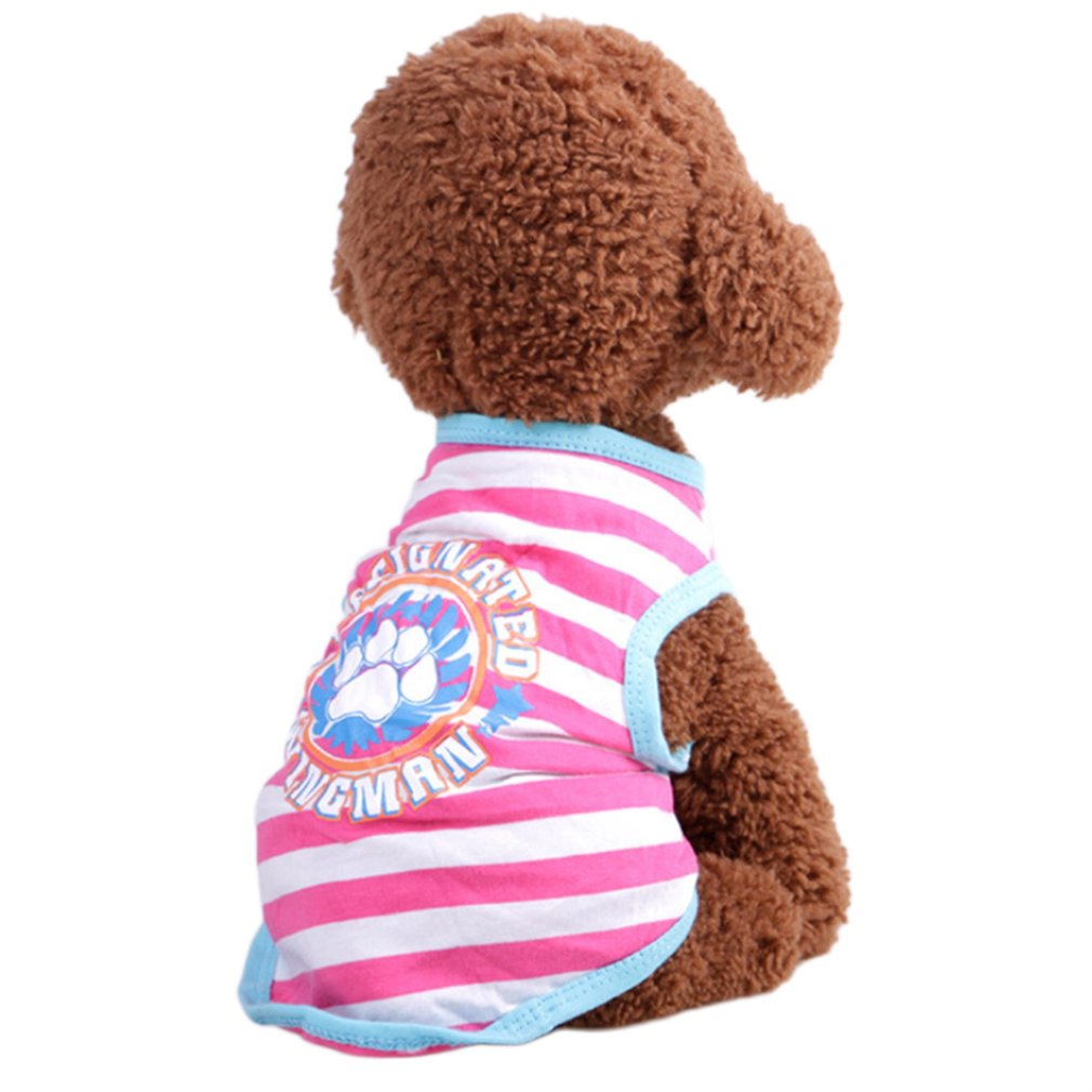 Pet Clothing Summer And Autumn Breathable Striped Vest Fashion Soft Clothes