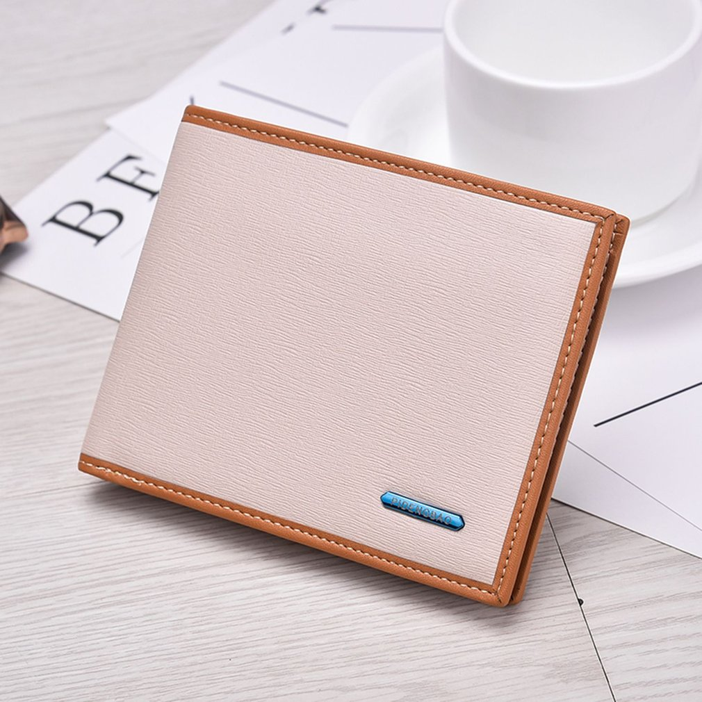 High Class Men Short Style Soft PU Leather Multi-Card Slots Credit Card Wallet