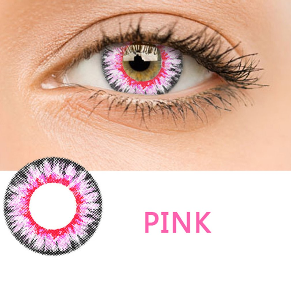 One Pair/set Fashionable Charming Cosmetic Contact Lenses Beautiful Moisture