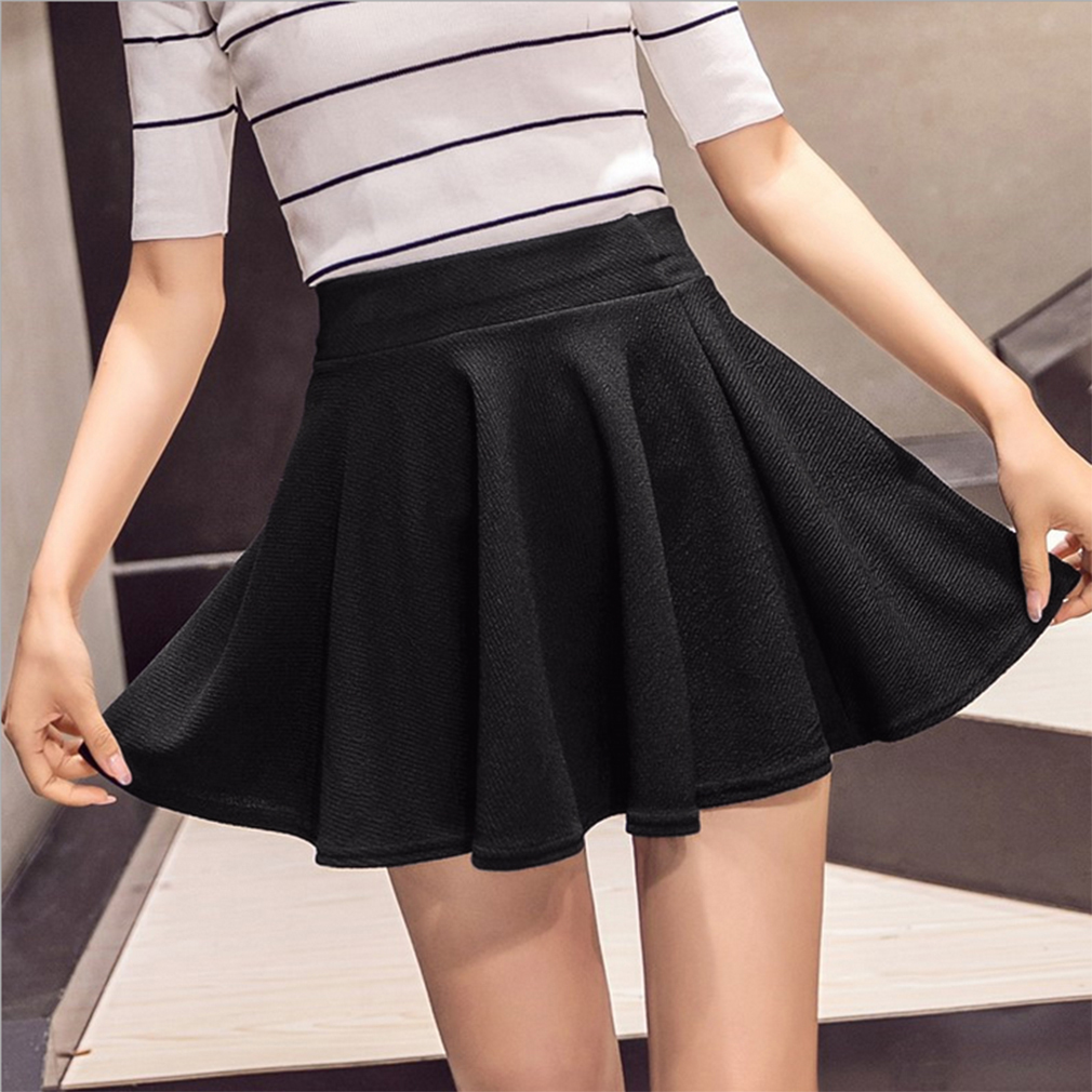 Four Seasons Can Wear New Style Stretch Waist Ladies Bubble Short Skirt